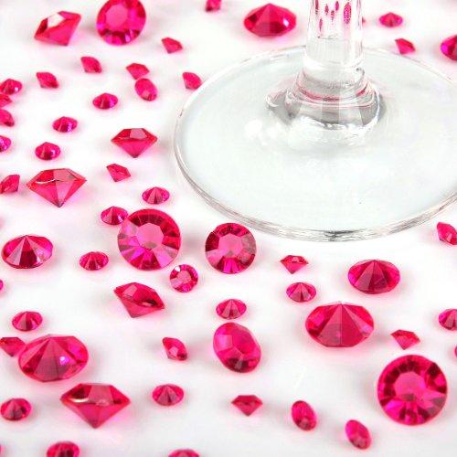 3000Rose Vif Tailles mixtes (2440/ailettes + 400/6,5mm + 160/10mm) pour décoration de table confettis Cristaux Diamants