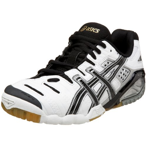 ASICS Women's GEL-Sensei 3 Volleyball Shoe,White/Black/Gold,11 B US