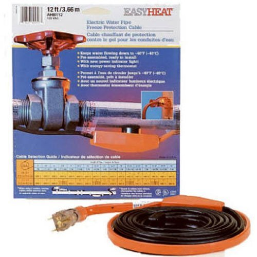 Easy Heat AHB-019 Cold Weather Valve and Pipe Heating Cable, 9 feet (Outside Water Faucet Valve compare prices)