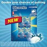 Nicorette Gum White Ice Mint 4 mg - 8 Pocket Packs x 25 Pieces Each - 200 Count