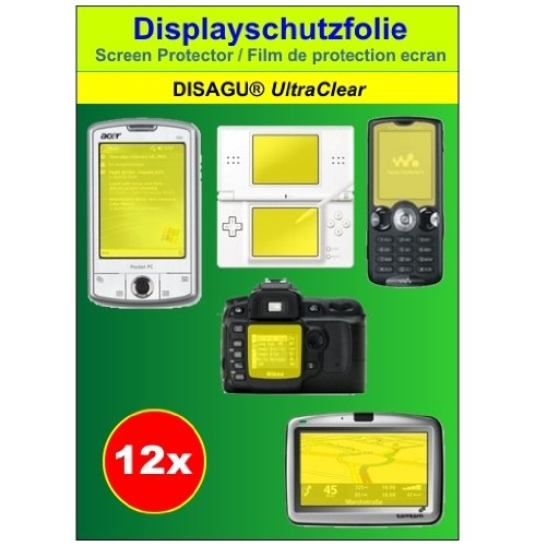Ultra Clear Displayschutz Schutzfolie 12er Set für Canon Digital IXUS 980 IS