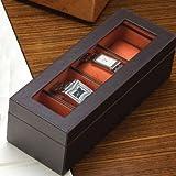 Elvy Men's 4- piece watchbox in Leatherite