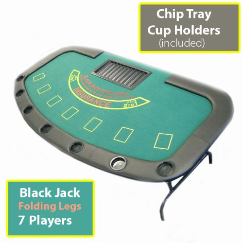 Professional Style Blackjack Table with Folding Legs