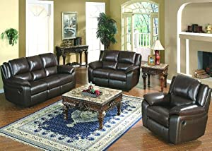Yuan Tai Furniture Baxter Brown Leather Match Chair from Yuan Tai Furniture