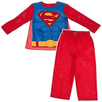 Komar Kids Little Boys' 4-8 Red Superman Pajamas with Cape