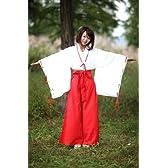 巫女 みこさん コスプレ 高品質衣装 豪華 7点 セット コスチューム 犬夜叉 桔梗 女性 XLサイズ 巫女装束