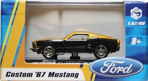 1:87 / HO SCALE CUSTOM `67 MUSTANG (GOLD) Hot Wheels Vehicle & Acrylic Display Case