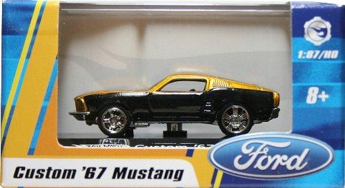 1:87 / HO SCALE CUSTOM `67 MUSTANG (GOLD) Hot Wheels Vehicle & Acrylic Display Case
