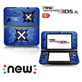 Ci-Yu-Online VINYL SKIN [new 3DS XL] - Monster Hunter X #3 Blue - Limited Edition STICKER DECAL COVER for NEW Nintendo 3DS XL / LL Console System