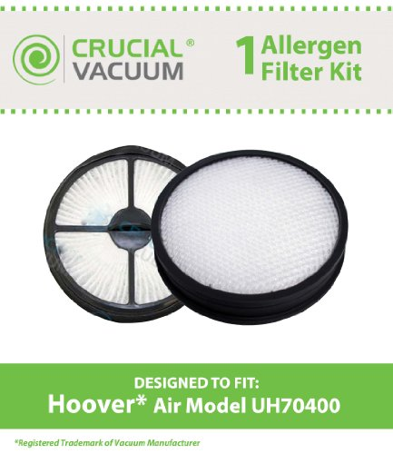Hoover WindTunnel Air Model UH70400 Filter Kit Includes 1 HEPA Style Filter 303902001 & 1 Primary Filter 303903001, Designed & Engineered By Crucial Vacuum (Hoover Hepa Filter 303902001 compare prices)