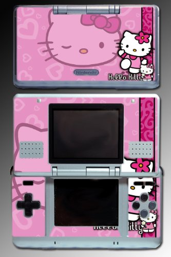 Hello Kitty Pink Cute Cat game cartoon Vinyl Decal Skin Protector Cover 2 for Nintendo DS