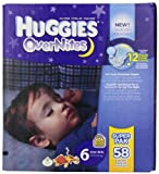 Huggies Overnites Diapers, Size 6, Big Pack, 58 Count