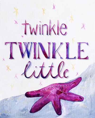 "Cici Art Factory Twinkle Little Star Wall Decor, Lilac, 8"" x 10"""