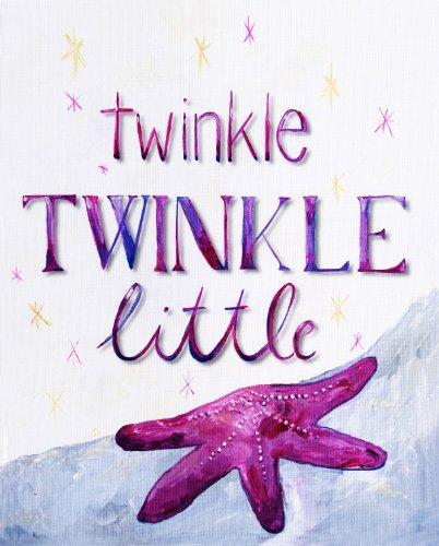 "Cici Art Factory Twinkle Little Star Wall Decor, Lilac, 8"" x 10"""