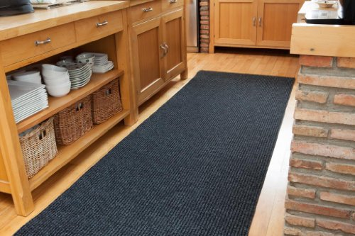 Thick Grey Black Dirt Remover Runner Rugs For Kitchen & Hallway 3