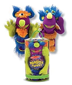 Melissa Doug Deluxe Fuzzy Make - Your - Own Monster Puppet by Melissa & Doug
