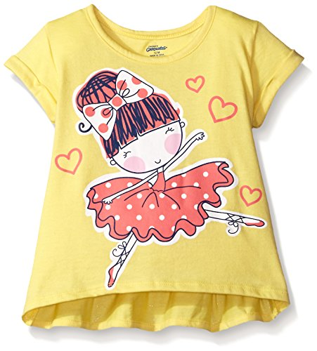 Gerber Graduates Girls Short Sleeve Swing Top with Back Ruffle, Ballerina, 12 Months