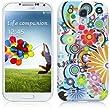Samsung Galaxy S4 IV i9500 H�lle TPU Silikon H�lle Cover - Blumen Muster Schutzh�lle f�r Samsung Galaxy S4 i9500 - Wei� und Rot, Lila, Pink, Rosa, Blau und Gr�n