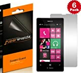 SUPERSHIELDZ- High Definition (HD) Clear Screen Protector Shield For Nokia Lumia 521 (T-Mobile) + Lifetime Replacements Warranty [6-PACK] - Retail Packaging