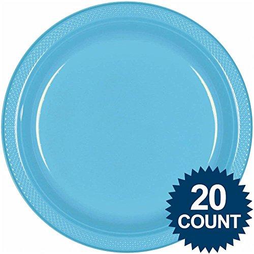 "10 1/4"" Caribbean Plastic Plates 20 per pack"