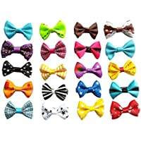 BysitShow Baby Pet Dog Hair Clips Cat Puppy Bows Grooming Accessories Pack Of 20 Color Assorted