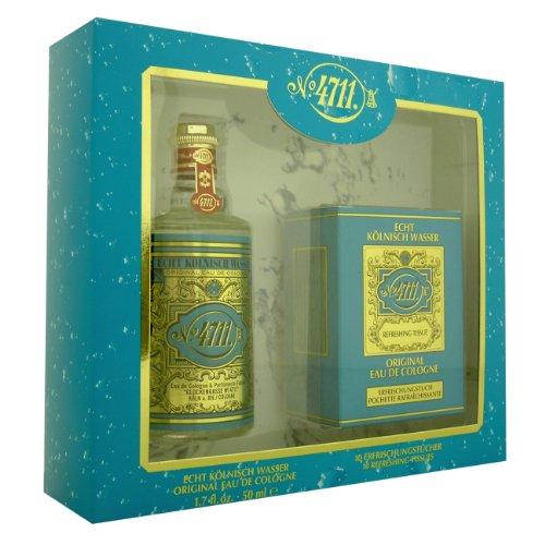 4711 Original by Muelhens 50ml Eau de Cologne & 10 Refreshing Tissues