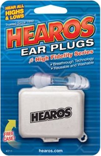 Hearos Earplugs High Fidelity Series With Free Case, 1-Pair