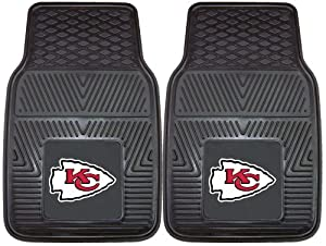 Fan Mats 8899 NFL - Kansas City Chiefs 18 x 27 Heavy Duty Vinyl Car Mat Set by Fanmats