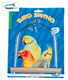 Happy Pet Wooden and Metal Cockatiel Parakeet Bird Swing