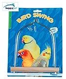 Happy Pet Wooden and Metal Cockatiel Parakeet Bird Swing