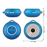 Merit™ Shok Ultra Portable Wireless Bluetooth Speaker Mini Outdoors Speaker with Built-in Microphone 10 hours rechargeable battery Micro SD/TF Card Slot and Aux Input for iPhone 5S/5C iPad Samsung Galaxy S5/S4/Note Android phones Windows phones Blackberry MP3 Players Tablets PC computers laptops and other Bluetooth devices - Blue
