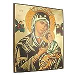 Ikonenbild Madonna mit Kind auf Holzplatte