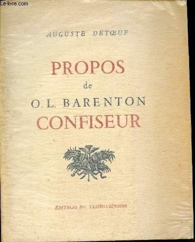 Propos de O. L. Barenton confiseur