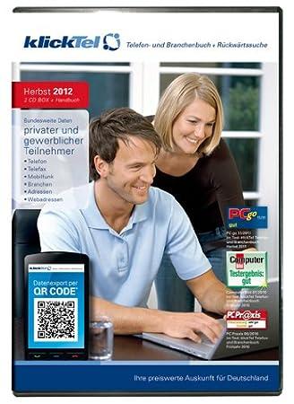 klickTel Telefon- und Branchenbuch inkl. Rückwärtssuche Herbst 2012