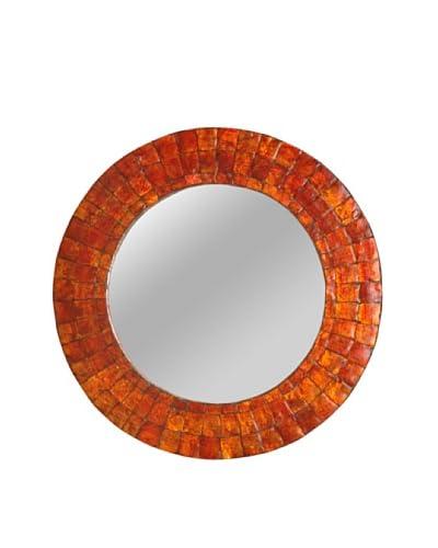 Jeffan Cameron Round Mirror, Orange