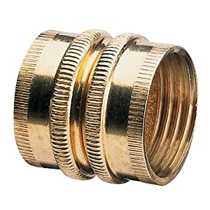 Nelson Industrial Brass Pipe and Hose Fitting with Dual Swivel for Male Hose to Male Hose, Double Female 50574