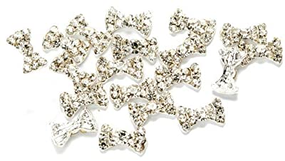 20 Premium 3D Clear Rhinestones Bow Tie Manicure Nail Art Decorations By Cheeky®