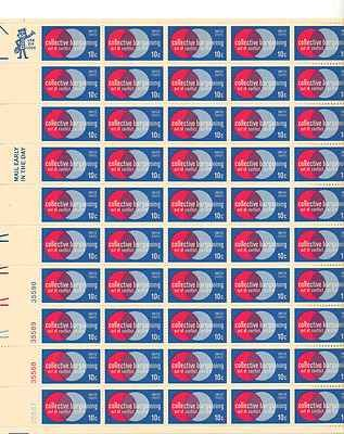 Collective Bargaining Sheet of 50 x 10 Cent US Postage Stamps NEW Scot 1558