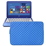 Evecase HP Stream 11 11-d010nr Notebook 11.6 inch Laptop Carrying Sleeve Pouch Case - Blue