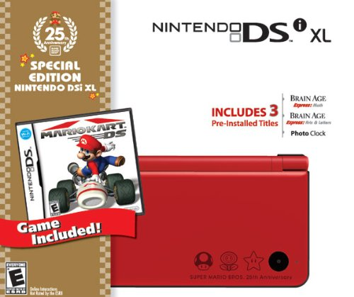 Nintendo DSi XL Red Bundle with Mario Kart