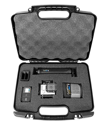 GoXTREME Action Sports Cam and Accessories Travel Carrying Camera Case fits Lightdow LD4000 LD6000 , GeekPro Pro 1 , DBPOWER EX5000 , Canany , Head Chest Straps , Charger , Cables , Battery and More (Maximum Impact Head Cleaner compare prices)