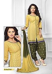 Venisa Cambric Cotton Cream Color Salwar Suit Dress Material
