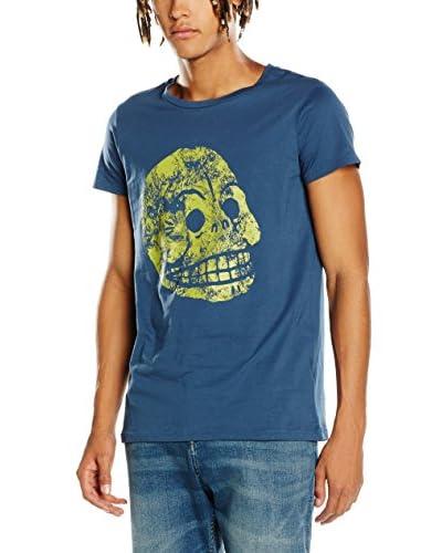 Cheap Monday T-Shirt Cap Tee Moon Skull blau