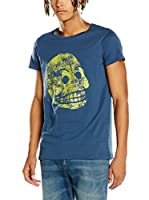 Cheap Monday Camiseta Manga Corta Cap Tee Moon Skull (Azul)