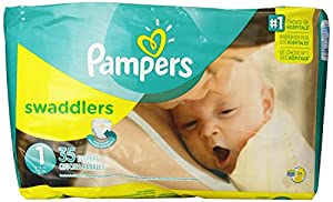 Pampers Swaddlers Diapers, Size 1, 35 Count