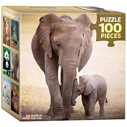 EuroGraphics Elephant and Baby Mini Puzzle (100-Piece)
