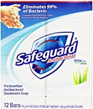 Safeguard Antibacterial Soap, White With Aloe, Bath Size Bars, 12-Count (Pack of 4)