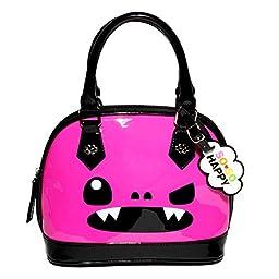 Loungefly X So So Happy Taco Mini Patent Dome Purse Pink/Black