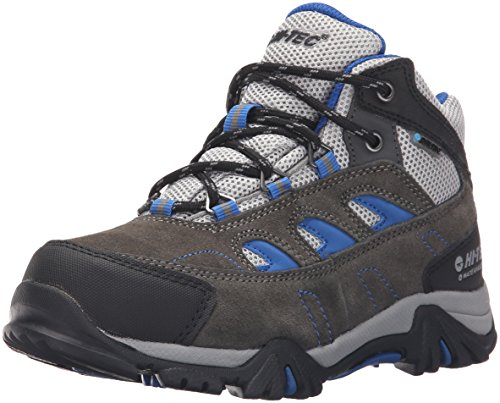 Hi-Tec Logan WP JR Hiking Boot (Little Kid/Big Kid), Charcoal/Grey/Cobalt, 2 M US Little Kid