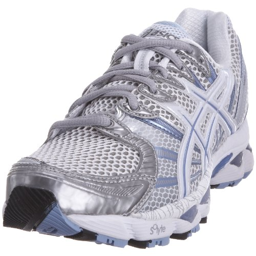 ASICS Women's Gel Nimbus 12 W White/Pool/Lightning Trainer T095N0141 4 UK